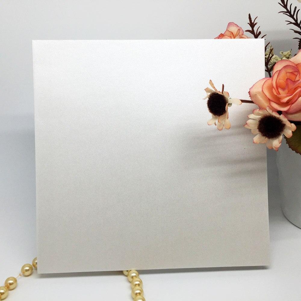 10Pcs/set Iridescent Paper Wedding Invitation Card Envelope Delicate ...