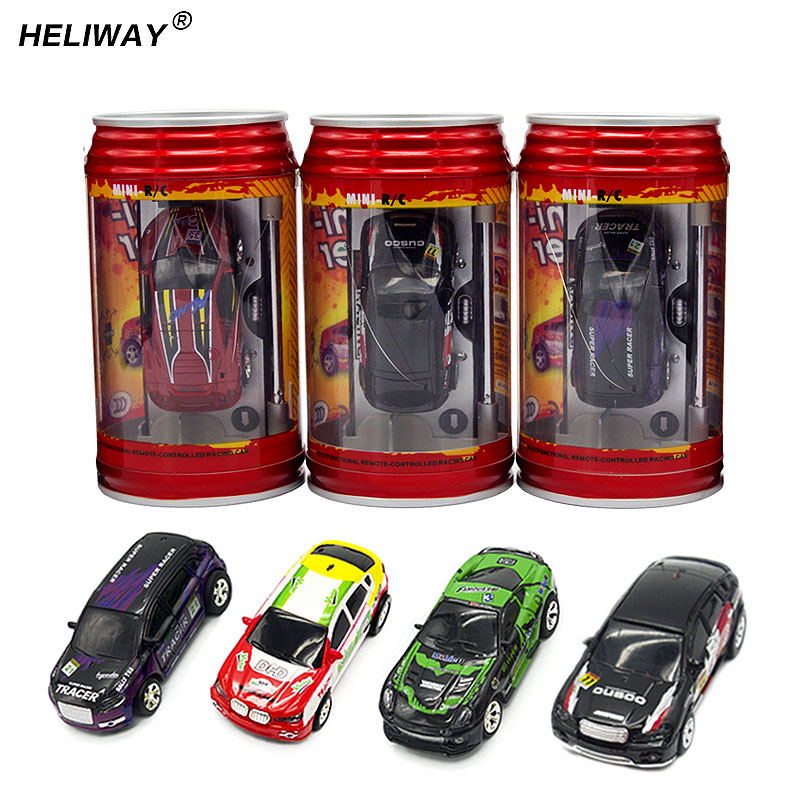 Wltoys Coke Can Mini RC Car Hot Sale 20KM/H Radio Remote Control Micro Racing Car Frequencies Toys for Kid Best Gift
