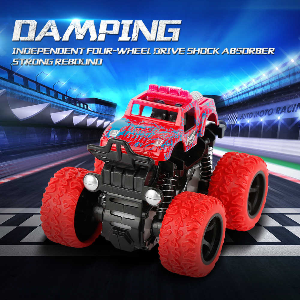 Four-wheel Drive Inertial Off-road Vhicle Toys rotating stunt vehicle four independent spring design Anti-Shatterproof Car Model