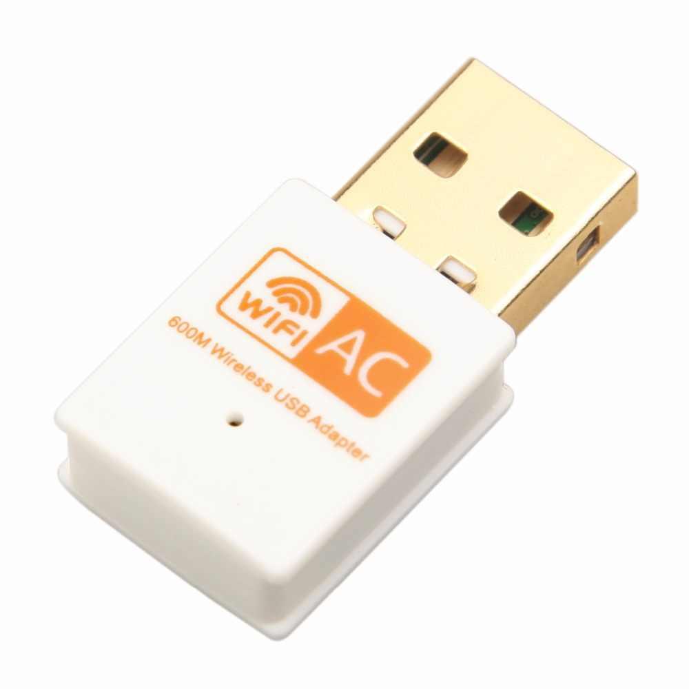 Kebidu tarjeta de red 600Mbps adaptador WiFi USB 2,4 GHz 5GHz antena WiFi de banda Dual 802.11b/n/g/ac Mini computadora inalámbrica receptor