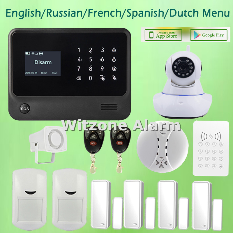 Original Home Office Alarm G90B, Touchkeypad IOS Android APP Controlled Security Alarm System with WIFI IP Camera детская игрушка new wifi ios
