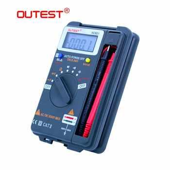 OUTEST VC921 Mini Digital Multimeter True-RMS Auto Range Frequency AC/DC Voltage 4000 counts pocket size meter