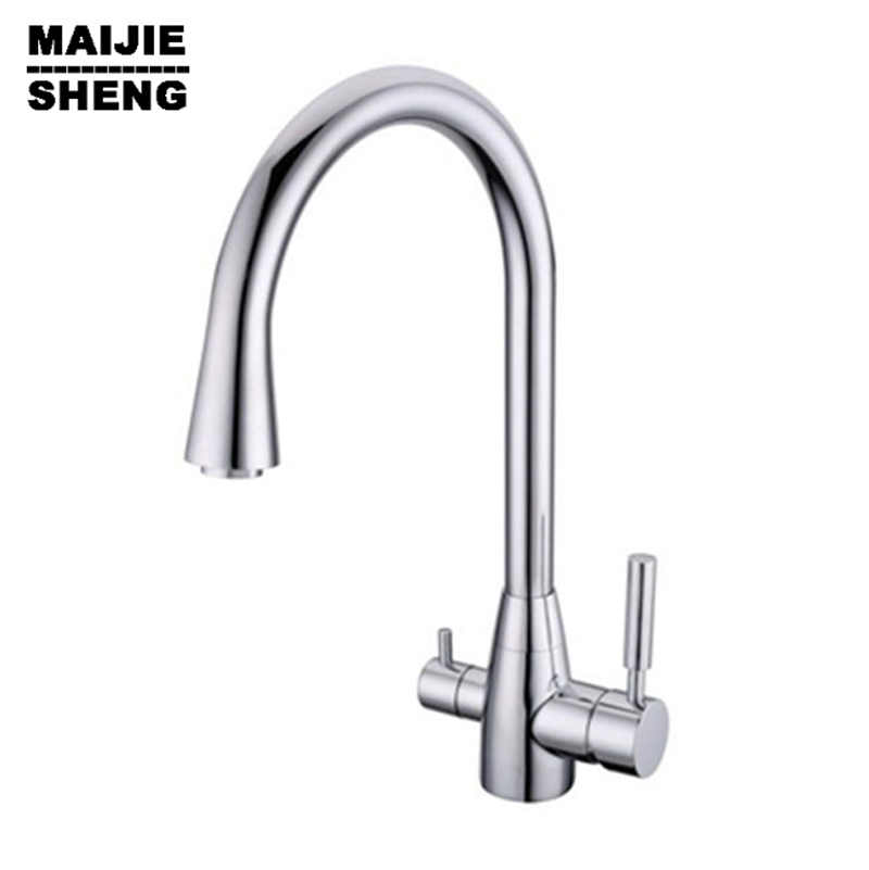 Water Faucet 3 Way Mixer Torneira Water filter Kitchen Tap Faucets 3 way double function kitchen mixer Drinking direct 3 function kitchen faucet with water filter torneira cozinha faucets 3 in1 kitchen faucet with soap dispenser three way sink tap