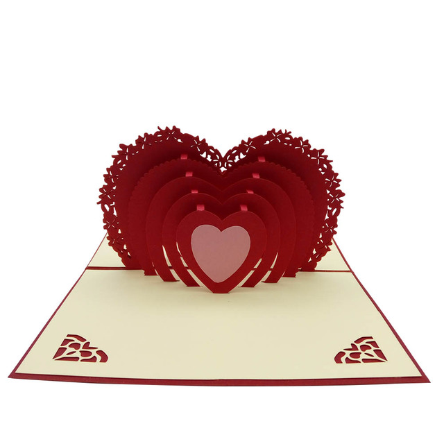 3d pop up paper cards lovers couple romantic love heart gift 3d pop up paper cards lovers couple romantic love heart gift greeting card valentine day postcards m4hsunfo