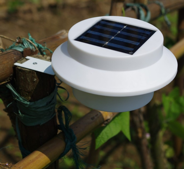 New Outdoor Garden 8 Led Solar Shed Eaves Work Light Lamp: Waterproof 5 LED Outdoor Solar Powered Panel Garden Path