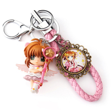 anime carton Card Captor Sakura 3D Keychain zinc alloy Keyring Jewelry Pendant child Gift Toy ornaments