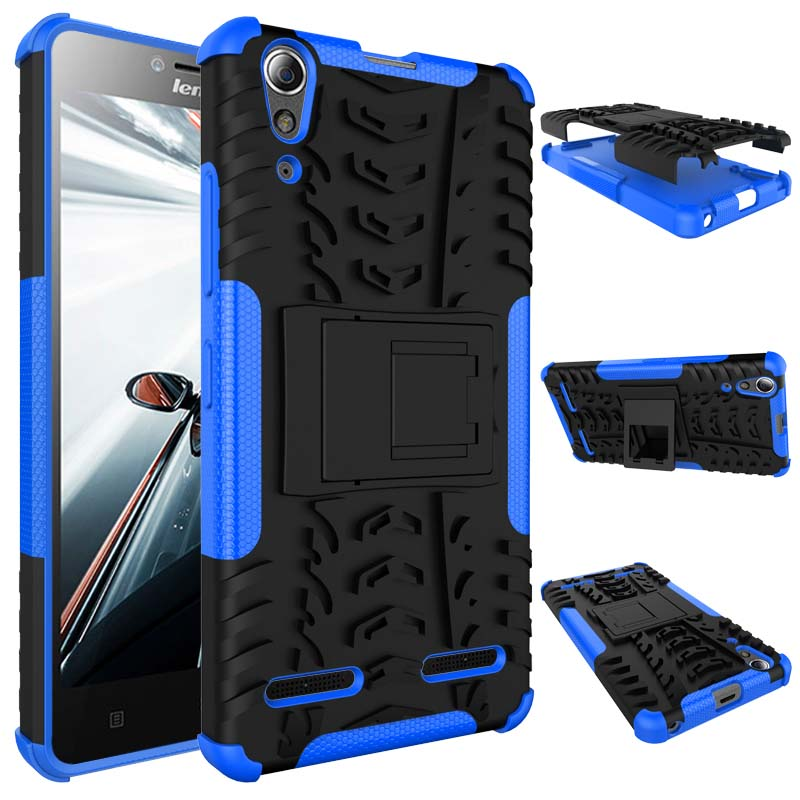 Dual Armor Case for lenovo A6000 A6010 High quality Silicon PC Hard Back cover case for