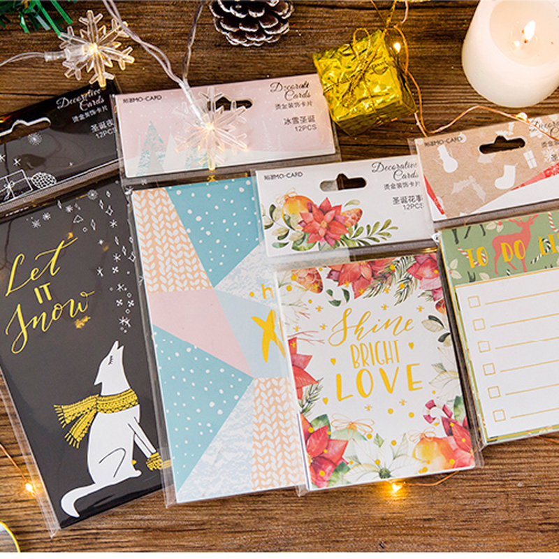 Dokibook Notebook Christmas decoration card foil lable card for diary Planner diy office accessories creative school stationery