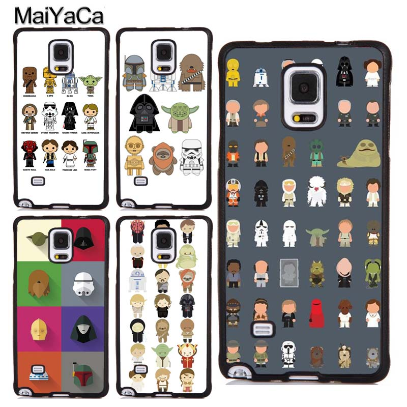 MaiYaCa Star Wars All Characters Funny Printed TPU Case For Samsung Galaxy S3 S4 S5 S6 S7 edge S8 S9 Plus Note 4 5 8 Cover Coque