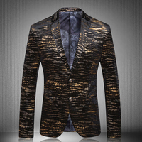Blazer mens 2017 New Peacock Men Blazers Fashion Casual Designer Brand Costume Homme Men jacket Printed Blazers JP116 7777