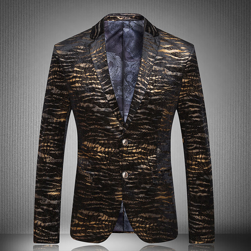 Blazer mens 2017 new peacock men blazers fashion casual Designer clothing for men online sales