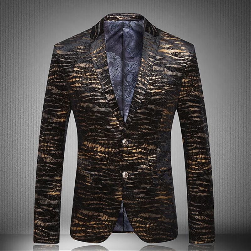 Blazer Mens 2017 New Peacock Men Blazers Fashion Casual