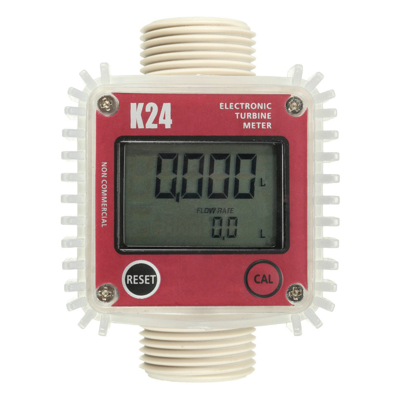 Durable Quality For Pro K24 BSP/NPT For Turbine Digital Fuel For Diesel Flow Meter High Accuracy Counter Free Shipping k24 turbine flow meter for water