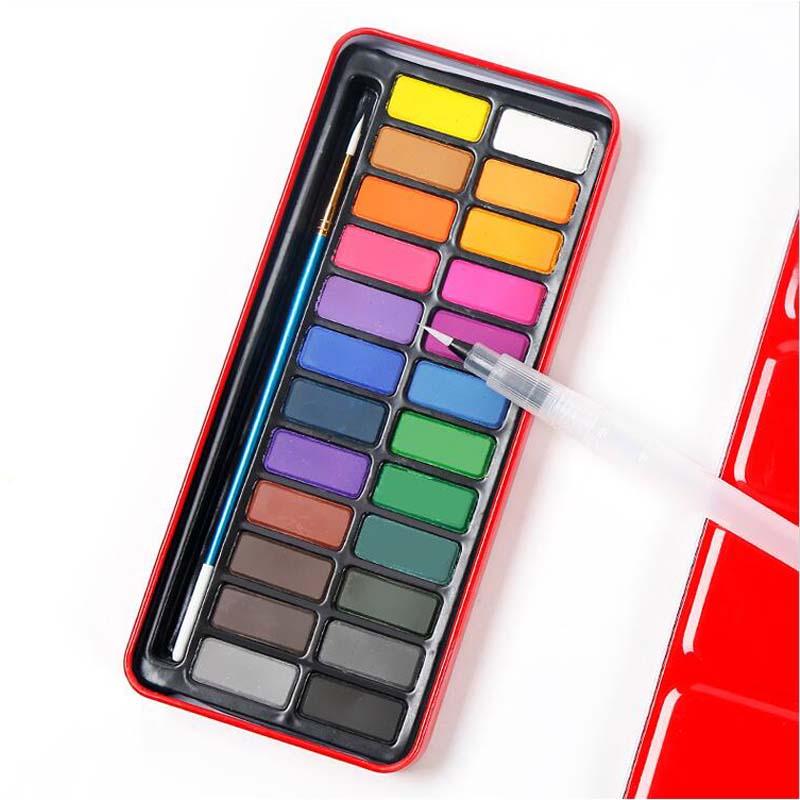 18/24 farben Professionelle Aquarell Farben Set Solide Aquarell Voller Leben Box Farben Kunst Malerei für Künstler Werkzeuge Malen Sätze