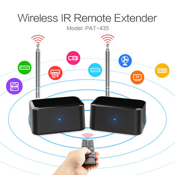 New Wireless IR Remote Extender adapter repeater 200m for HD TV wireless AV transmitter and receiver sender PAT435