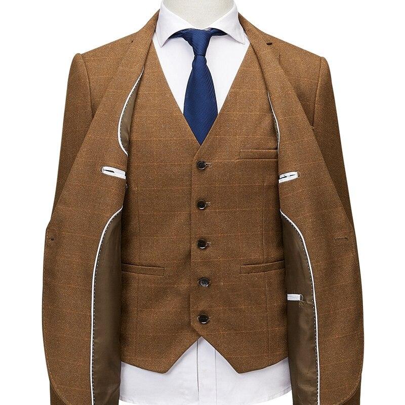 2019 メンズスリムフィットチェック柄ジャケットファッション最新オーダーメイドスーツジャケットブレザー古典的な高級メンズブレザー  グループ上の メンズ服 からの ブレザー の中 3