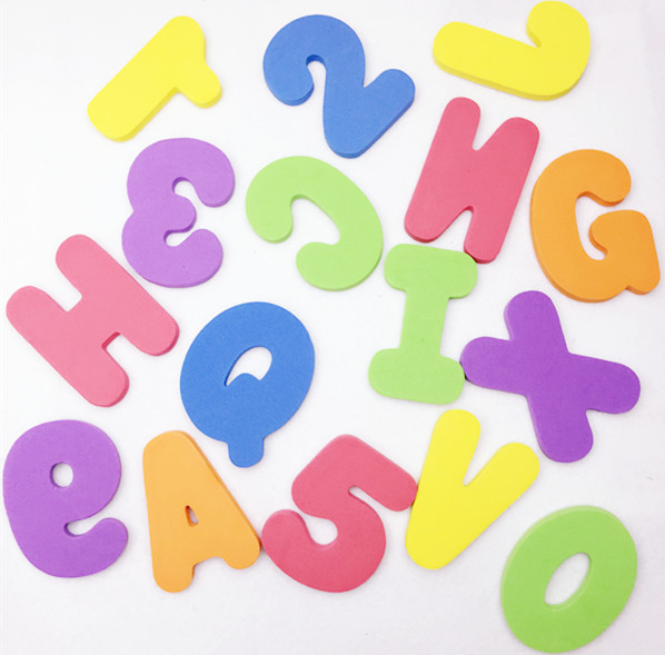 10setlot lovely baby child foam jigsaw alphabet letters kids swimming early educational toy for