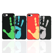 Thermal Sensor hand Newest Fashional 2019 newphone case protective cover black soft for iPhone 6 6s 7 8plus X XS XR XSMax