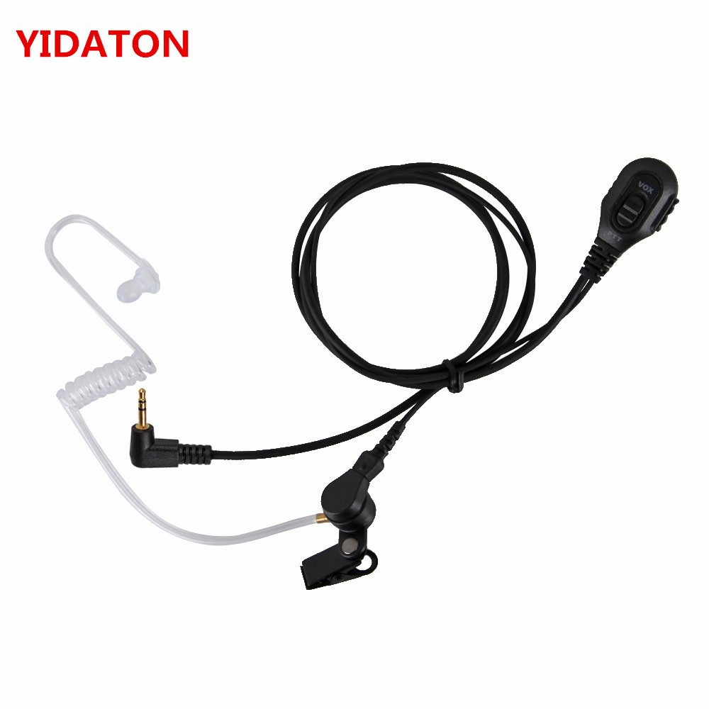 Security Covert Air Acoustic Tube Headset Earpiece Mic PTT For Motorola Portable Radio TLKR T60 T8 MR350R MS350R MD200TPR