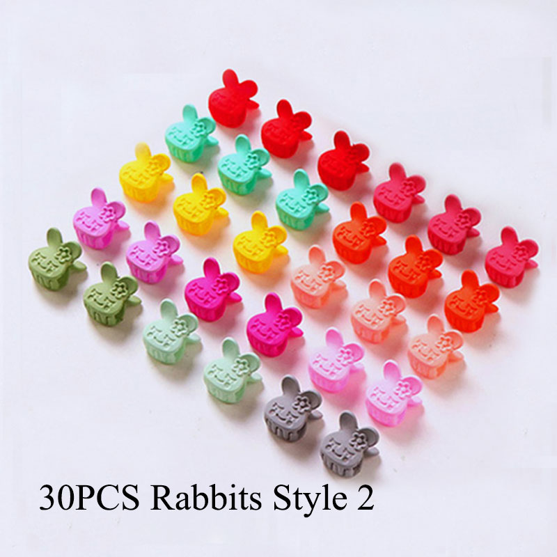 30 PCS Set Korean Hair Claws Hair Accessories Girls Hairpin Small Flowers Hair Clips Bangs for Children Random Colors in Hair Accessories from Mother Kids