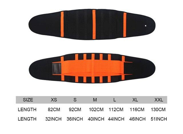 Men And Women Waist Support Belt Neoprene Plus Size Slimming Sweat Belt Women Waist Support Back Support Fitness Waist Trimmer 4