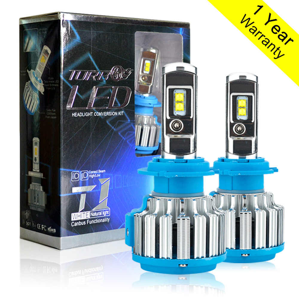 H7 LED Canbus Super Bright H1 H3 H4 H11 HB4 9005 9006 H8 H9 T1 70W 7000Lm 6000K Canbus Car Headlight  Bulb Headlamp Light
