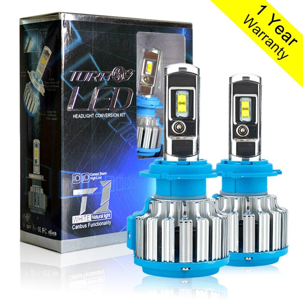 H7 LED Canbus Super Bright H1 H3 H4 H11 HB4 9005 9006 H8 H9 T1 70W 7000Lm 6000K Canbus Car Headlight  Bulb Headlamp Light