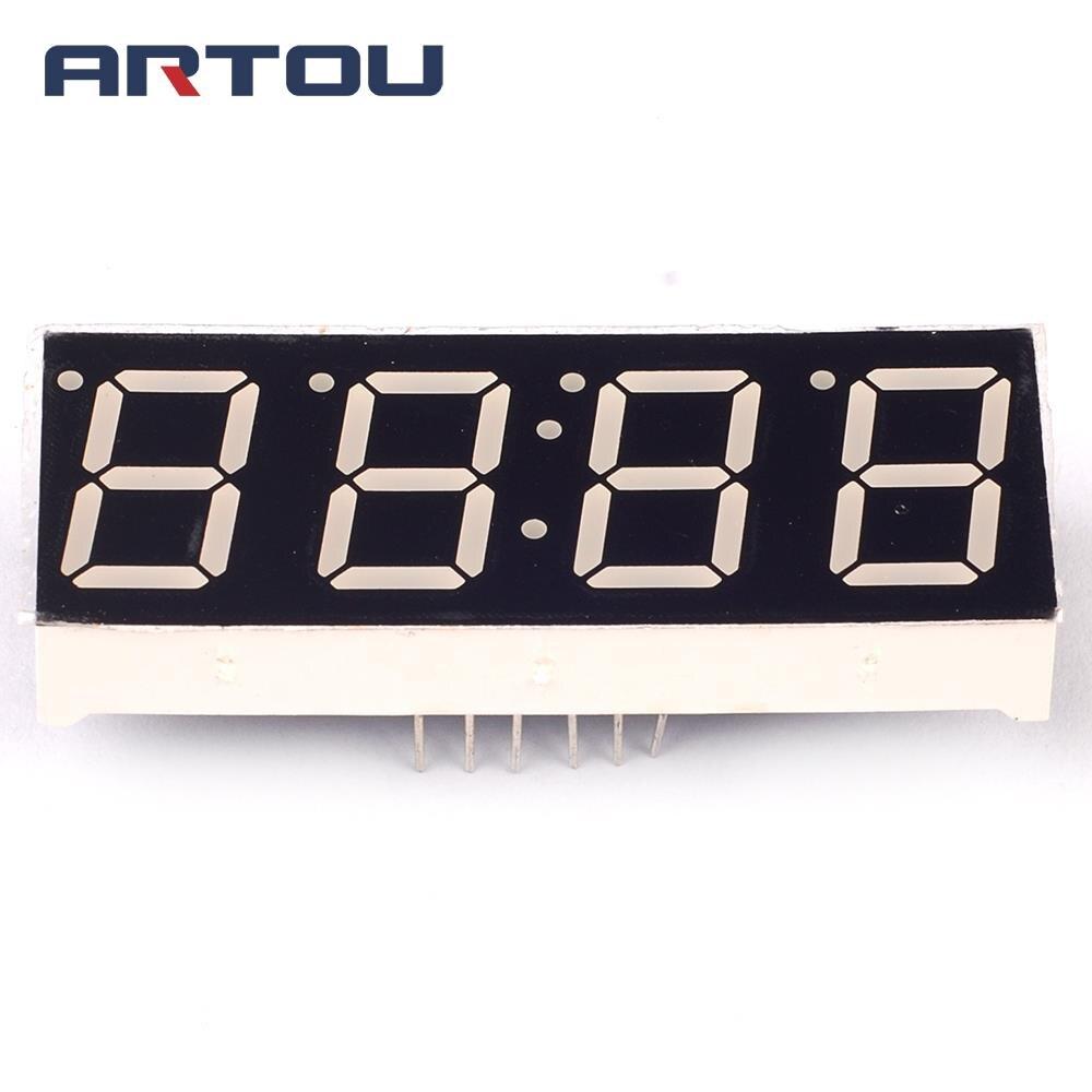 10 шт./лот общий анод 4Bit Цифровой пробки 7-сегментный 0,56 с часами Дисплей красный светодиодный Дисплей