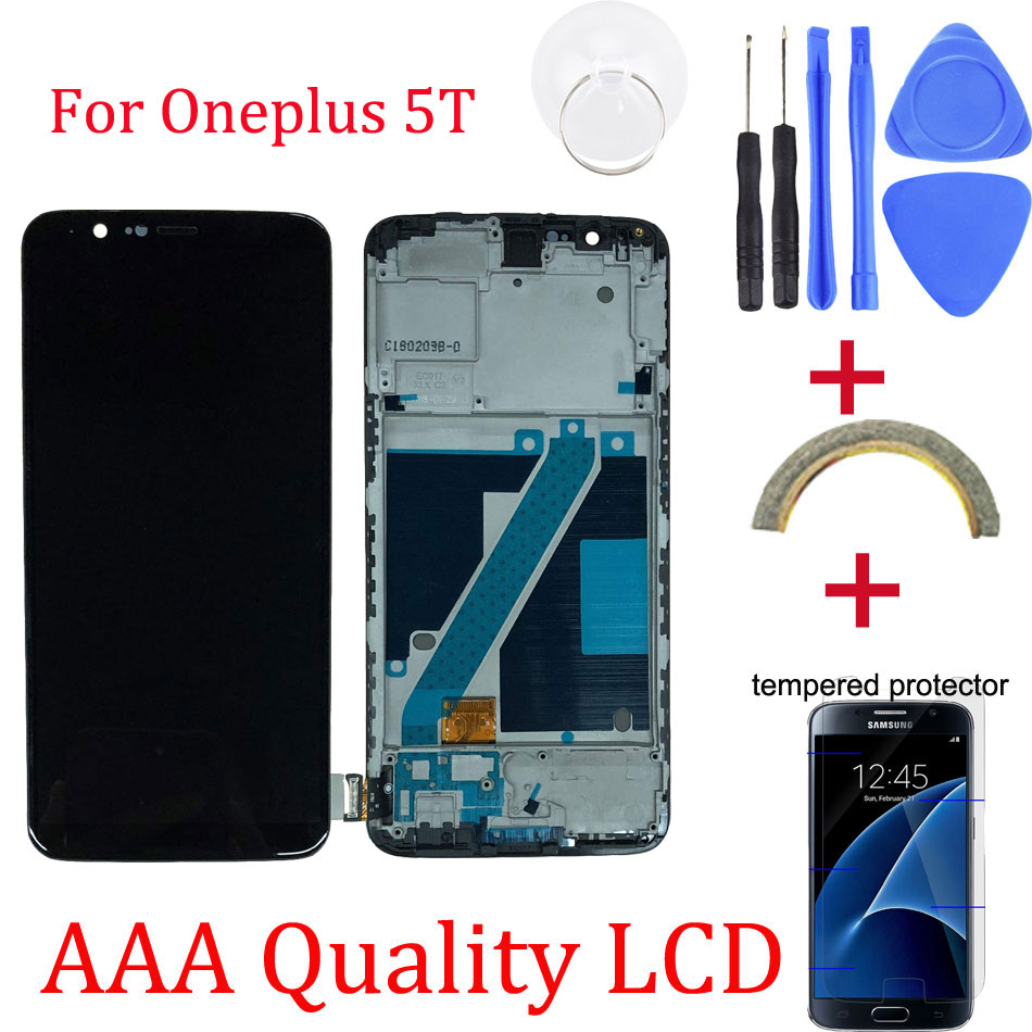 Original For Oneplus 5T Replacement LCD Display+Touch Screen Digitizer assembly replacement for oneplus 5T Free Tools Repair kitOriginal For Oneplus 5T Replacement LCD Display+Touch Screen Digitizer assembly replacement for oneplus 5T Free Tools Repair kit
