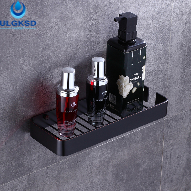 Ulgksd Bath Towel Racks Holders Bathroom Accessories Towel Shelf Oil Rubbed Bronze Wall Mounted