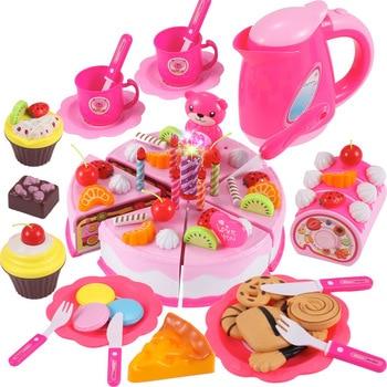 37-80 Uds DIY juego De frutas cortar pastel De cumpleaños Cocina alimentos...
