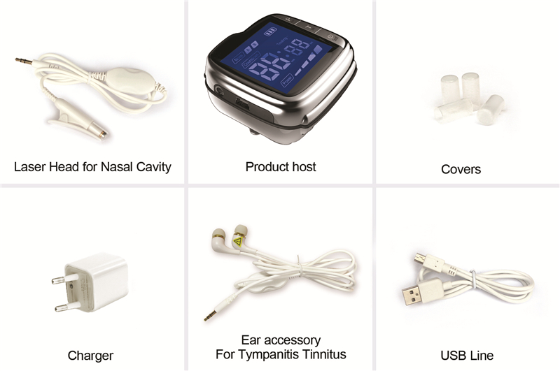 Home use ENT diminish inflammation and control blood pressure medical laser equipment for tinnitus cure