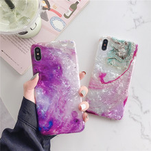 Colorful shell Mobile phone Marble cover fundas For Apple iPhone XR X 8 7 plus 6 6s XS MAX marble cases