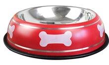 Stainless Steel Dog  Bone Printed  Feeding Bowl