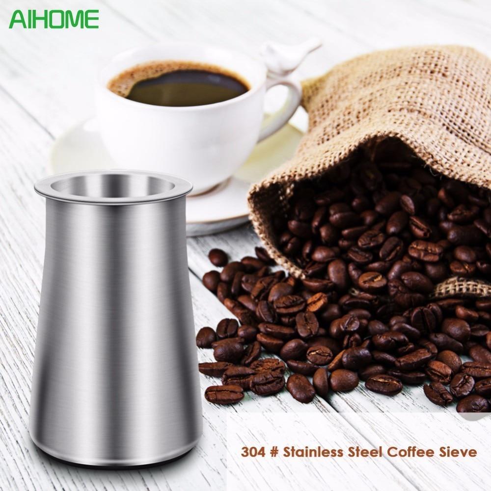 1pc אבקת קפה מסננת נירוסטה קמח מסנן מסנן כוס אבק אבק קפה גרינדר אביזר עבור Barista