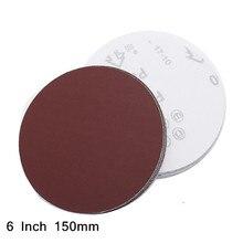 6 Inch 150mm Round Sandpaper Disk Sand Sheets Grit 40 7000 for Choose Hook and Loop Sanding Disc for Sander Grits