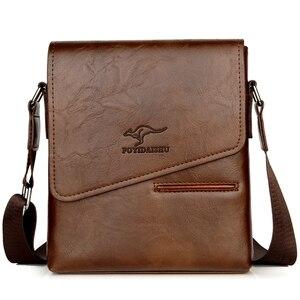 Image 3 - Summer Luxury Brand Kangaroo Messenger Bags Men Leather Casual Crossbody Bag For Men Business Shoulder Bag Male Small Handbag