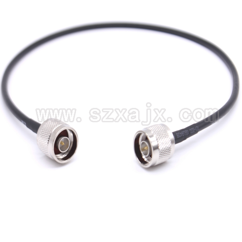 JX Factory sales RF Coaxial cable N male to male connector N male to N male RG58 Pigtail cable 50cm fast ship rp sma female to y type 2x ip 9 ms156 male splitter combiner cable pigtail rg316 one sma point 2 ms156 connector for lte yota