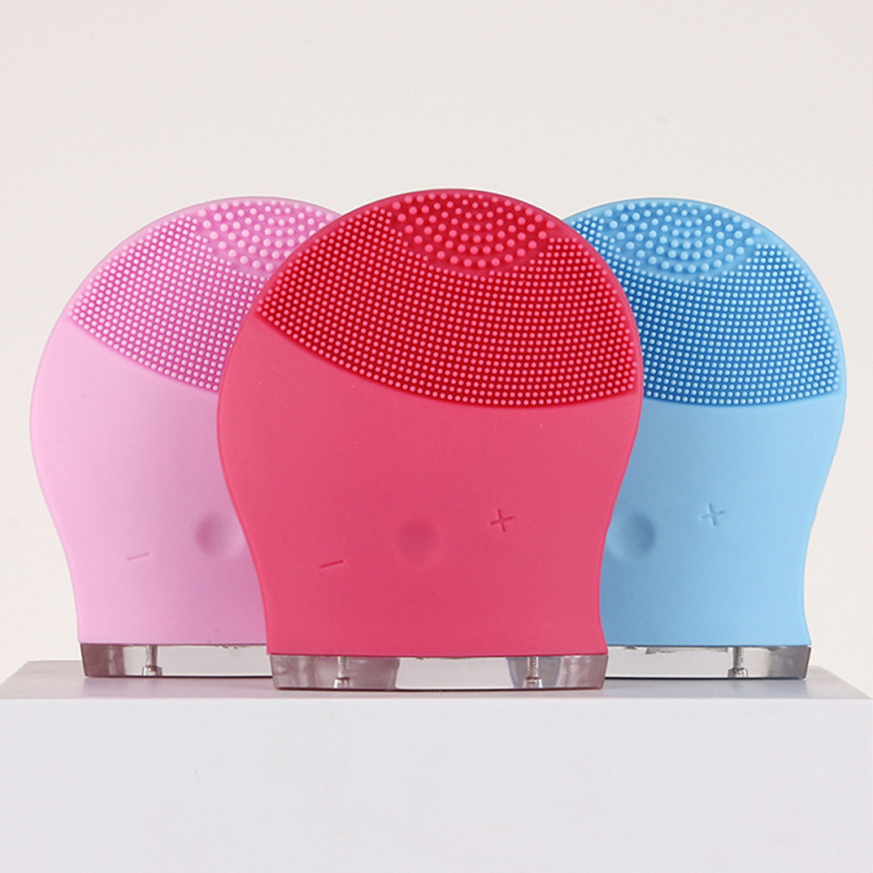 лучшая цена Electric Face Cleanser Vibrate Pore Clean Silicone Cleansing Brush Tool Massager Facial Vibration Skin Care Spa Massage