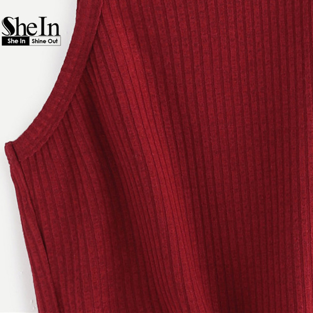 Summer Style Tank Top For Ladies Casual Tops Woman Plain Round Neck Sleeveless Tie Front Ribbed Crop Tank Top