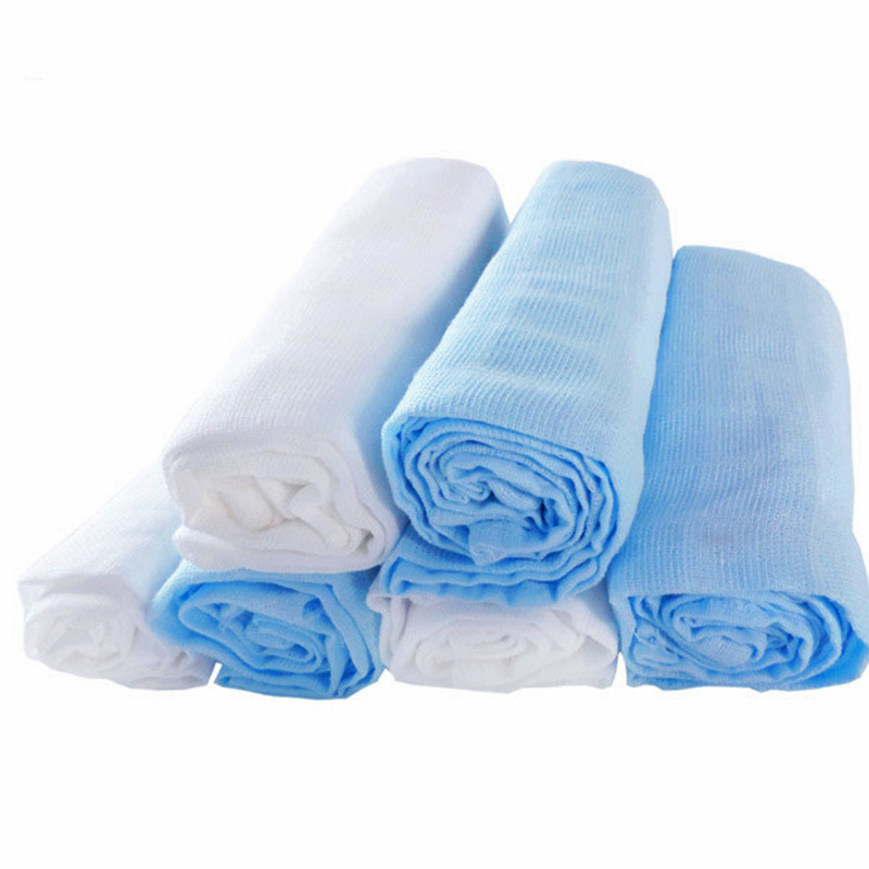 Diapers Baby Muslin Repeated Nappy Newborn Gauze Cotton Cloth Diaper Baby Bath Towel Swaddles 6 Pieces 70*70 Cm