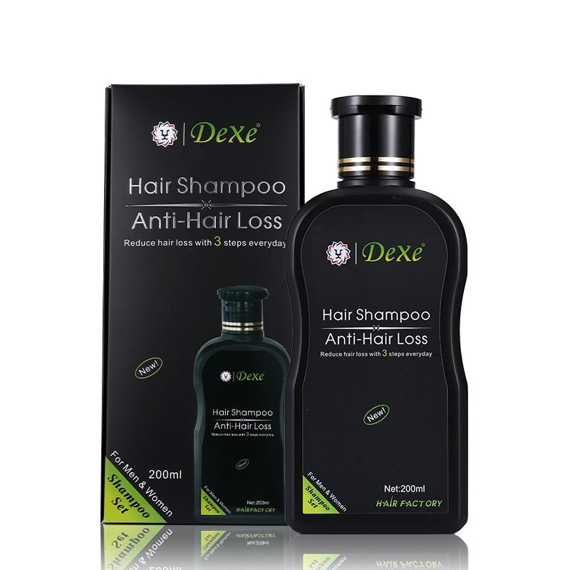 Dexe Hair Set 200 ml Herbal Anti-Hair Loss Hair Shampoo Product Hair Growth Prevent Hair Treatment For Men and Women high technology hair loss treatment laser hair growth supplements