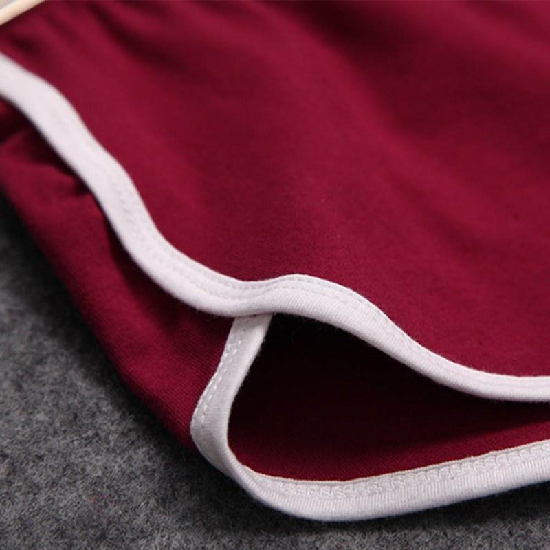 Women Elastic Waist Short All-match Loose Solid Soft Cotton Casual Short 29
