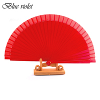 Wholesale 10 pcs/Lot Spanish Dance Performance Wooden Fans old Fashioned Wedding Clothing Accessories Folding Fan Hand Painted