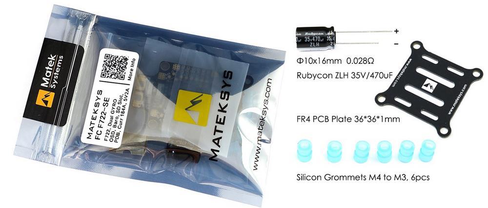 Système Matek F722-SE F7 double contrôleur de vol Gryo avec capteur de courant BEC OSD boîte noire pour Drone RC - 2