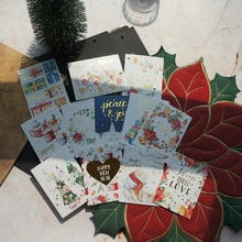 10*7.5cm 12pcs Christmas Gold Early Morning Design Card Gift Christmas Tree Greeting Cards Gift Cards Party Invitation p dyson prelude for organ greeting on christmas morning