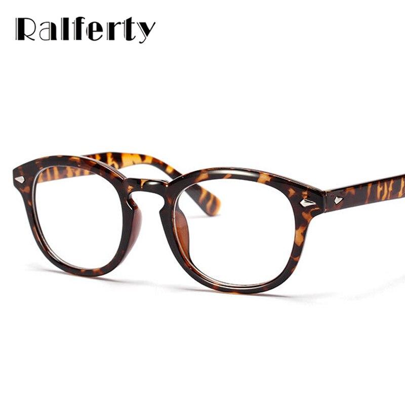 Ralferty retro diseñador Gafas marcos con lente clara Johnny Depp Gafas  grado óptico marcos oculos de Grau dab0a706f0