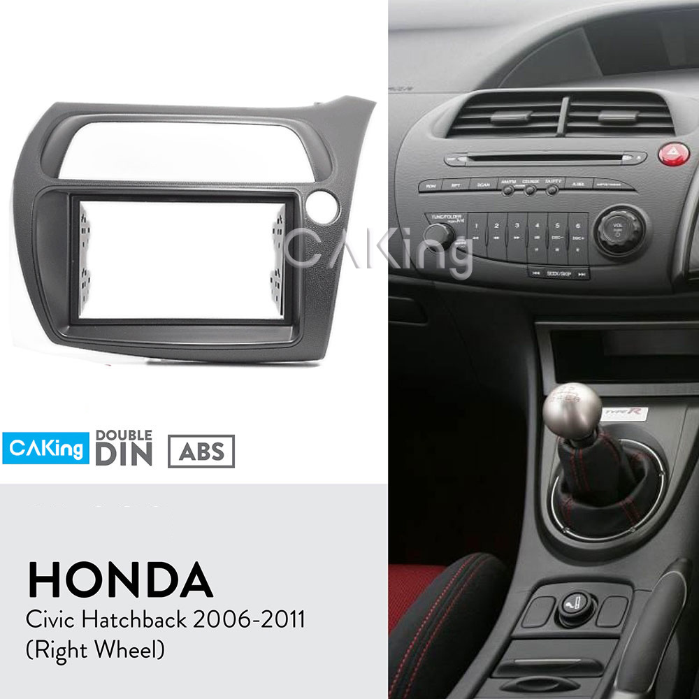 Double Din Car Fascia Radio Panel for Honda Civic Hatchback 2006 2011 Right Wheel Dash Fitting
