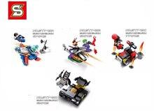 4 шт./лот SY749 Super Man vs Бэтмен Строительный Блок Фигурки Minifigures Совместимые Legoes Игрушки