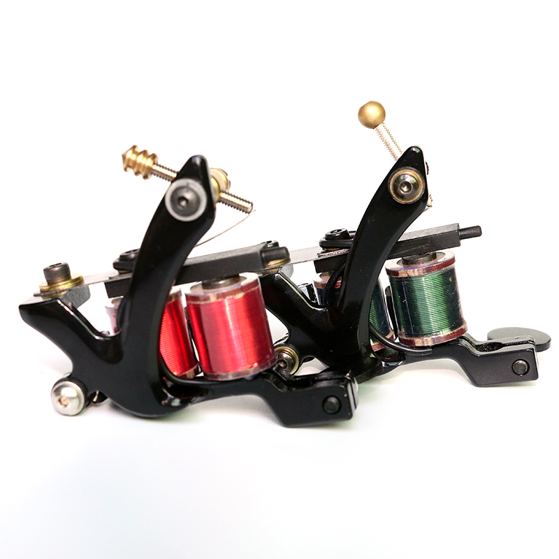2pcs  2018 New Hot Tattoo Machine  10 Warp Coil Light Weight Tattoo Guns For Shader Liner Coloring Lining